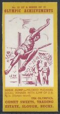 COMET SWEETS-OLYMPIC ACHIEVEMENTS PACKAGE ISSUE-#12- HIGH JUMP - MCDANIEL