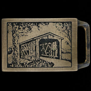 Tech Ether Guild Langley Brücke Kunst Hippie Massives Messing 70s Vintage Riemen