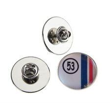 Herbie 53 VW Beetle Metal Pin Badge with 25 mm Logo