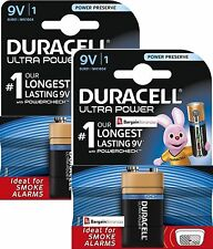 2x DURACELL 9V ULTRA POWER ALKALINE BATTERIES PP3 LR22 for Electronic devices UK