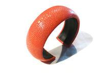 Bijou tendance rare authentique bracelet manchette Galuchat