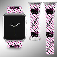 Hello Kitty Apple Watch Band 38 40 42 44 mm Series 5 1 2 3 4 Wrist Strap 02