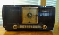 Vintage General Electric AM Tube Clock Radio Working For Restoration Or Parts