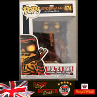 Funko Pop Molten Man 474 Marvel Spider-Man Far From Home NEW FREE PROTECTOR