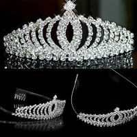 Princess Wedding Prom Bridal Headband Rhinestone Crystal Hair Band Tiara Crown#