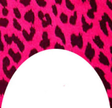 20 water slide nail art transfers dark pink leopard print french tip trending