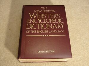New Lexicon WEBSTER'S Encyclopedic Dictionary Deluxe Ed. 1989