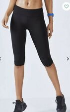 fabletics salar crop powerhold gym yoga leggings pants black mid rise Size M NEW