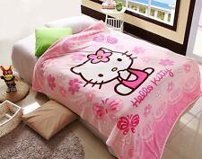 70*100cm Adorabile Hello Kitty Baby Coperta in Pile Corallo A LETTO IN TESSUTO