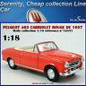 Neuve Peugeot 403 Cabriolet 8CV Rouge Géranium 1957 - 1:18 WELLY 12551 1/18