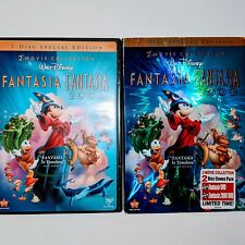 Fantasia 2000 2 Movie Collection  2-Disc DVD Set Special Edition Disney w/ cover