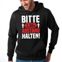 BITTE 1,50m ABSTAND HALTEN Sprüche Spaß Comedy Sweater Kapuzenpullover Hoodie