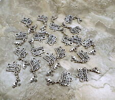 "Set of 20 Pewter  ""Cheerleader"" Charms  - 0654"