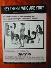 SEBASTIAN Movie JERRY GOLDSMITH Sheet Music 1967 HEY THERE WHO ARE YOU Bogarde