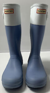 Hunter Women's Original Short Rain Boots US 7 Color - Light Blue & White
