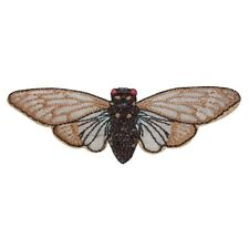 Id 1605C Moth Flying Patch Bug Insect Locust Embroidered Iron On Applique