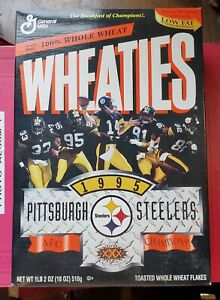 Pittsburgh Steelers 1995 AFC Champions WHEATIES Cereal Box - NFL Football