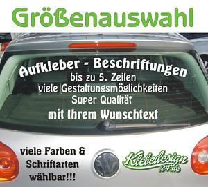 5. Zeilen Aufkleber Beschriftung 50-120cm Werbung Sticker Werbebeschriftung Auto