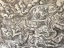 Virgil SOLIS (1514-1562) xylographie Le purgatoire 1561 XVIe Deutschland