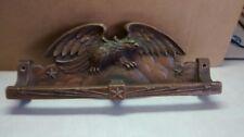 Antique SYROCO WOOD Eagle THEME Towel / Leash Rack Holder vintage, NICE