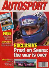 Autosport 22 Aug 1991 -  Prost Senna, Zandvoort Marlboro Masters, Gachot jailed