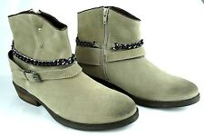 REPLAY KINGSTON Damen Leder Stiefelette Mädchen Schuhe Stiefel Woman Boots Beige