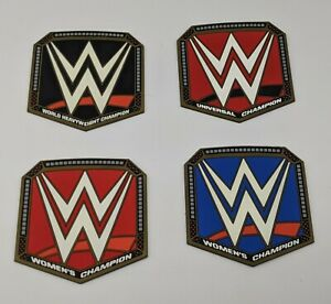 WWE Slam Crate Exclusive CHAMPIONSHIP COASTERS set of 4 Rubber Loot Crate NEW