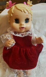 "2006 Baby Alive 13"" Sip n' Slurp Doll Hasbro Blinks W/Dress"