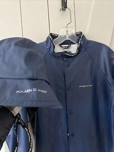 Polarn O Pyret Swedish 6-8 Rain Jacket & Hat Navy Adorable