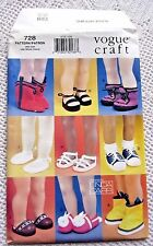 """7329/728 VOGUE SEWING PATTERN~UNCUT~18"""" AMERICAN GIRL DOLL CLOTHES:SHOES&BOOTS++"""