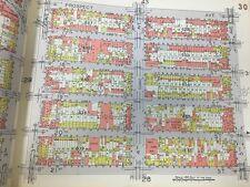 1929 BELCHER HYDE PARK SLOPE WINDSOR TERRACE PS 60 & PS146 BROOKLYN NY ATLAS MAP