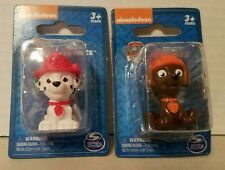 """Paw Patrol Mini Figures/Cake Toppers -1 Zuma & 1 Marshall -Approximately 2"""" tall"""