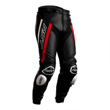 RST Tractech Evo R 2020 Leather Sports Motorcycle Trousers - Black / Red