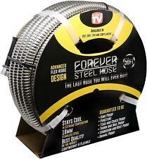 Forever Steel Hose 50ft 304 Heavy Duty Stainless Steel Metal Garden Water H
