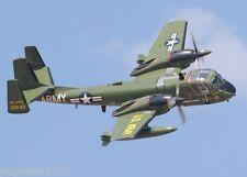 "Model Airplane Plans (UC): Grumman OV-1 Mohawk 37"" Scale for Twin .15 Engines"