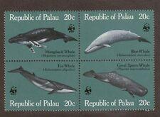 Palau 24 - 27 - Wwf Whales. Mnh.Og. #02 Palau24s