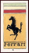 Ferrari #4 Car Badges & Emblems, J.M.Brindley Card (C146)