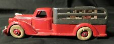 Vintage 1930s Hubley Cast Iron Gate Truck Red w/White Tires