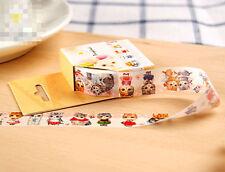 Cartoon Cat Masking Washi Tape Sticky Stationery Adhesive Sticker Charm