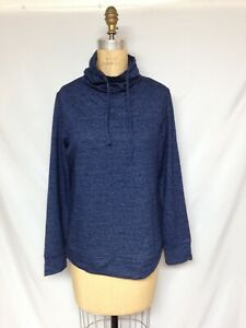 32 Degrees Fleece Quilted Funnel-Neck Top TLF82572ME  Blue NWT