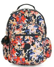 Kipling SEOUL GO Large Backpack with Laptop Compartment - Splashy Posies