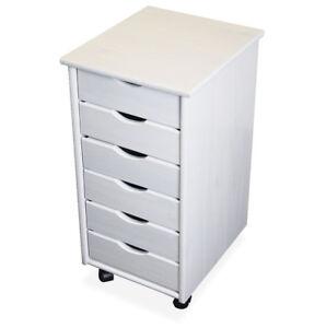 KMH® Rollcontainer Bürocontainer Schubladencontainer Kommode Nachttisch Holz