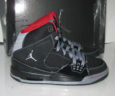 Air Jordan SC-1 Black Patent Varsity Red Stealth 407493-001] GS size 4.5Y  p