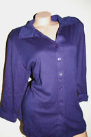 Fashion Bug Soft Ribbed Knit Women Plus Top Blouse Navy 18/20 22/24 26/28 30/32
