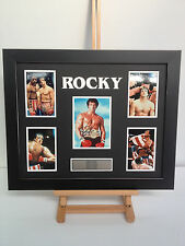 PROFESSIONALLY FRAMED, SIGNED STALLONE - ROCKY BALBOA PHOTO COLLAGE WITH PLAQUE.