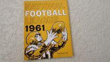 1961 NFL Yearbook football team roster data photo Lombardi Halas Starr Tarkenton