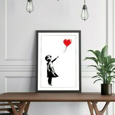 More details for balloon girl banksy sothebys art framed poster picture print artwork - 4 sizes