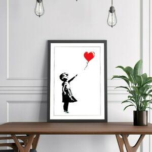 BALLOON GIRL BANKSY SOTHEBYS ART FRAMED POSTER PICTURE PRINT ARTWORK - 4 SIZES
