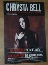 Chrysta Bell + Seil Lien - Glasgow/Edinburgh april 2019 show concert gig poster