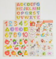 Wooden Jigsaw Puzzle Early Learning Alphabet Animal Baby SET OF 5